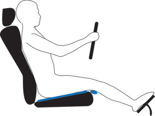 Tilt your car seat to support your bottom and thighs evenly. Make sure your neck is supported so that it's not too far forward or too far back.